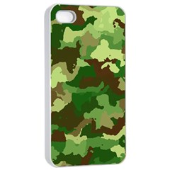 Camouflage Green Apple iPhone 4/4s Seamless Case (White)