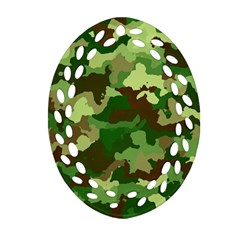 Camouflage Green Ornament (Oval Filigree)