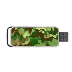 Camouflage Green Portable Usb Flash (two Sides)