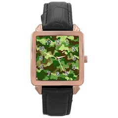 Camouflage Green Rose Gold Watches