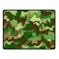 Camouflage Green Double Sided Fleece Blanket (Small)