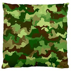 Camouflage Green Standard Flano Cushion Cases (one Side)