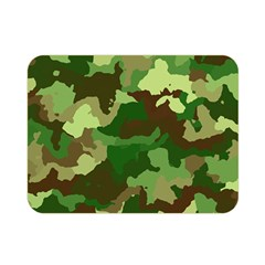 Camouflage Green Double Sided Flano Blanket (Mini)