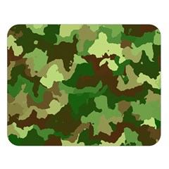 Camouflage Green Double Sided Flano Blanket (Large)