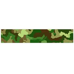 Camouflage Green Flano Scarf (Large)