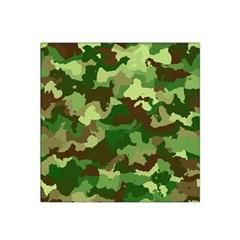 Camouflage Green Satin Bandana Scarf