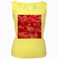 Camouflage Hot Pink Women s Yellow Tank Tops