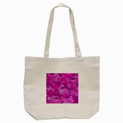 Camouflage Hot Pink Tote Bag (Cream)