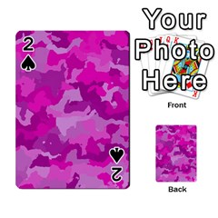 Camouflage Hot Pink Playing Cards 54 Designs