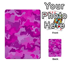 Camouflage Hot Pink Multi Purpose Cards (rectangle)