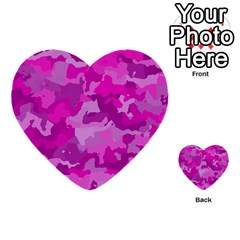 Camouflage Hot Pink Multi Purpose Cards (heart)