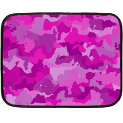 Camouflage Hot Pink Fleece Blanket (mini)
