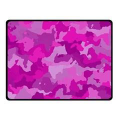 Camouflage Hot Pink Fleece Blanket (small)