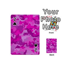 Camouflage Hot Pink Playing Cards 54 (Mini)
