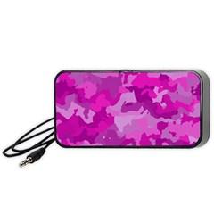 Camouflage Hot Pink Portable Speaker (black)