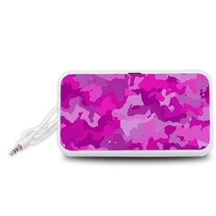 Camouflage Hot Pink Portable Speaker (White)