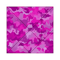 Camouflage Hot Pink Acrylic Tangram Puzzle (6  x 6 )