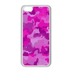 Camouflage Hot Pink Apple Iphone 5c Seamless Case (white)