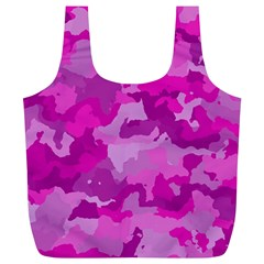 Camouflage Hot Pink Full Print Recycle Bags (l)