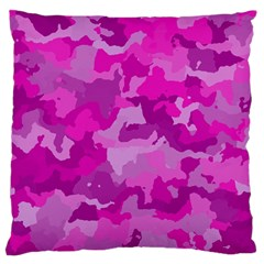 Camouflage Hot Pink Large Flano Cushion Cases (two Sides)