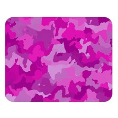 Camouflage Hot Pink Double Sided Flano Blanket (large)