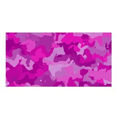Camouflage Hot Pink Satin Shawl
