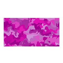 Camouflage Hot Pink Satin Wrap
