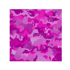Camouflage Hot Pink Small Satin Scarf (Square)