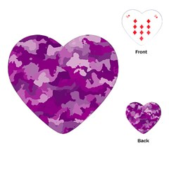 Camouflage Purple Playing Cards (Heart)