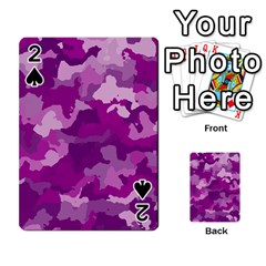 Camouflage Purple Playing Cards 54 Designs