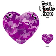 Camouflage Purple Playing Cards 54 (Heart)