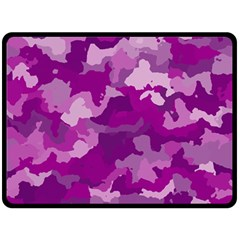 Camouflage Purple Fleece Blanket (Large)
