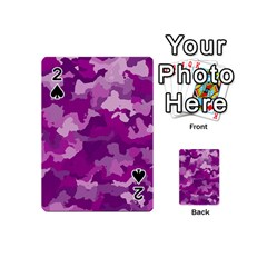 Camouflage Purple Playing Cards 54 (Mini)