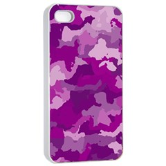 Camouflage Purple Apple Iphone 4/4s Seamless Case (white)