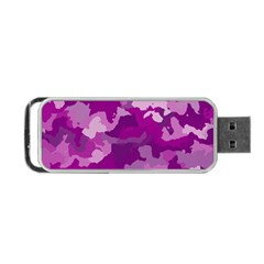 Camouflage Purple Portable Usb Flash (two Sides)