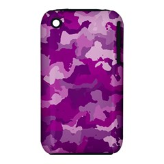 Camouflage Purple Apple Iphone 3g/3gs Hardshell Case (pc+silicone)