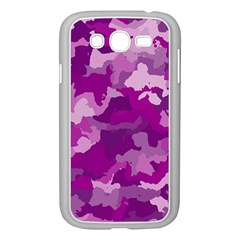 Camouflage Purple Samsung Galaxy Grand Duos I9082 Case (white)