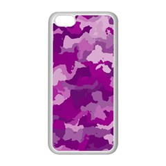 Camouflage Purple Apple Iphone 5c Seamless Case (white)