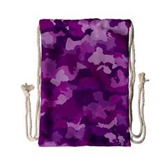 Camouflage Purple Drawstring Bag (Small)
