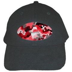 Camouflage Red,black Black Cap