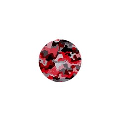 Camouflage Red,black 1  Mini Magnets