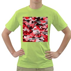 Camouflage Red,black Green T Shirt