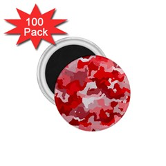 Camouflage Red 1 75  Magnets (100 Pack)
