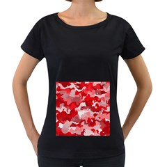 Camouflage Red Women s Loose Fit T Shirt (black)