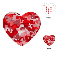 Camouflage Red Playing Cards (Heart)