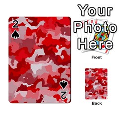 Camouflage Red Playing Cards 54 Designs