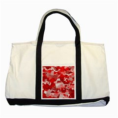 Camouflage Red Two Tone Tote Bag
