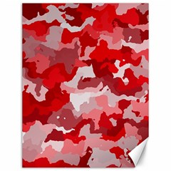 Camouflage Red Canvas 12  X 16