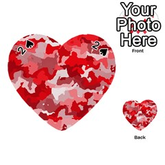 Camouflage Red Playing Cards 54 (Heart)