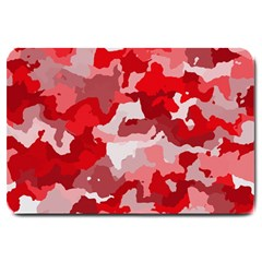 Camouflage Red Large Doormat